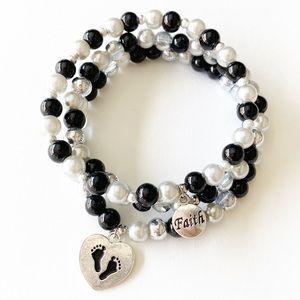 Walk by Faith Jewelry Gift Set Beaded Bracelet Set